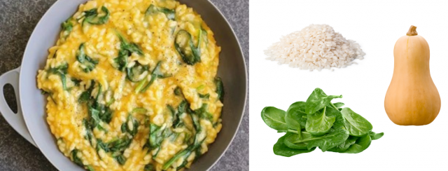 Pumpkin and Spinach Risotto, recipe, vegetarian, plant based, south eastern active health, dietitian, nutritionist, jarrod agosta, bentleigh